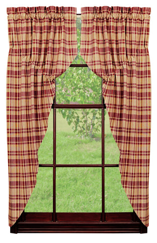 Raspberry Prairie Curtain Set