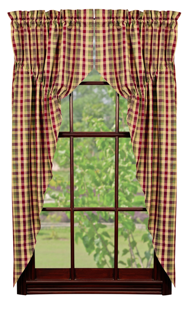Apple Cider Prairie Curtain Set