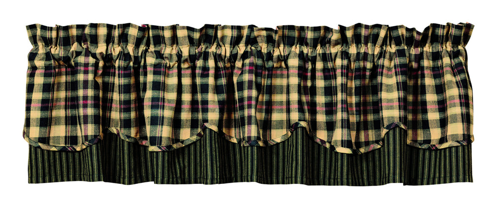Tartan Scalloped Layer Valance
