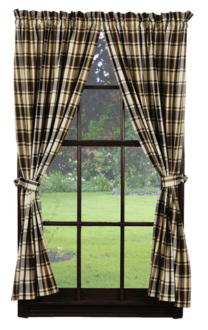 Moss Wood Short Panel Window Curtains Pair - 72x63 total - 2 inch rod pocket