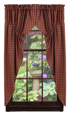 Cambridge Wine - Burgundy Prairie Curtain Set
