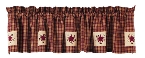 Cambridge Wine - Burgundy Premium Valance