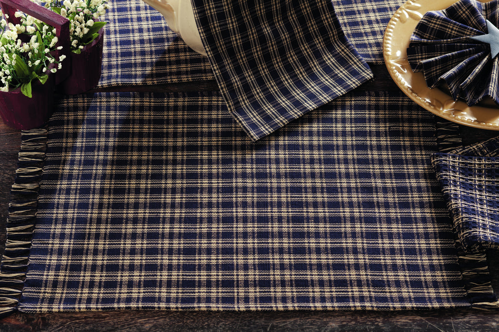 Cambridge Navy Short Table Runner
