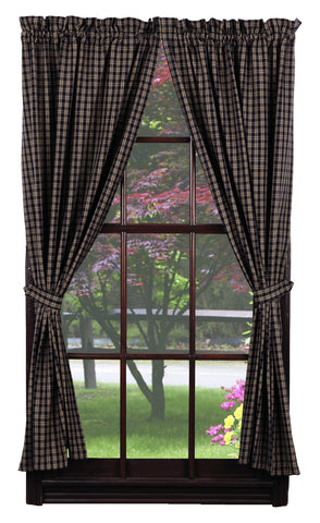 Cambridge Navy Short Panel Window Curtains Pair - 72x63 total - 2 inch rod pocket