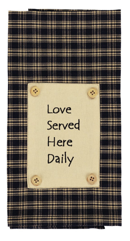 Cambridge Navy Love Served Dishtowel