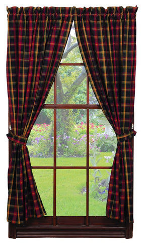Bramble Short Panel Window Curtains Pair - 72x63 total - 2 inch rod pocket