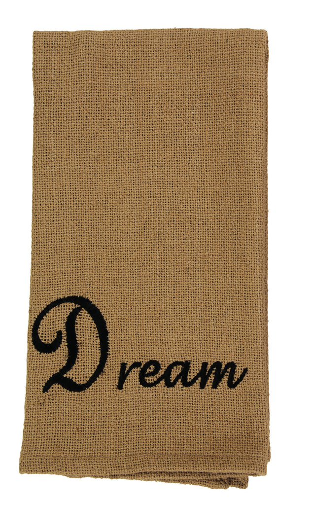 Soft Cotton Burlap Star Tan Dream Dishtowel