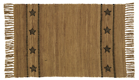 Burlap Star Rectangle Rug