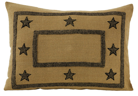 Soft Cotton Burlap Star Tan Sham