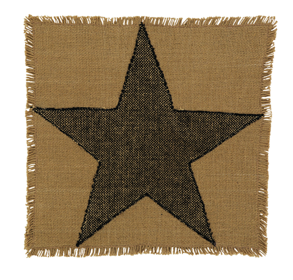 Soft Cotton Burlap Star Tan Tablemat