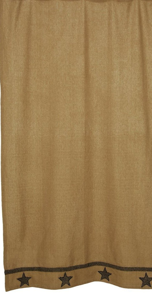 Soft Cotton Burlap Star Tan Shower Curtain
