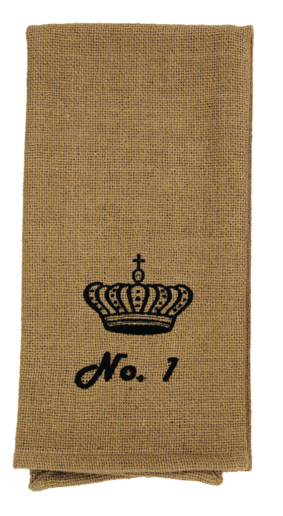 Soft Cotton Burlap Tan Check No. 1 Crown Dishtowel