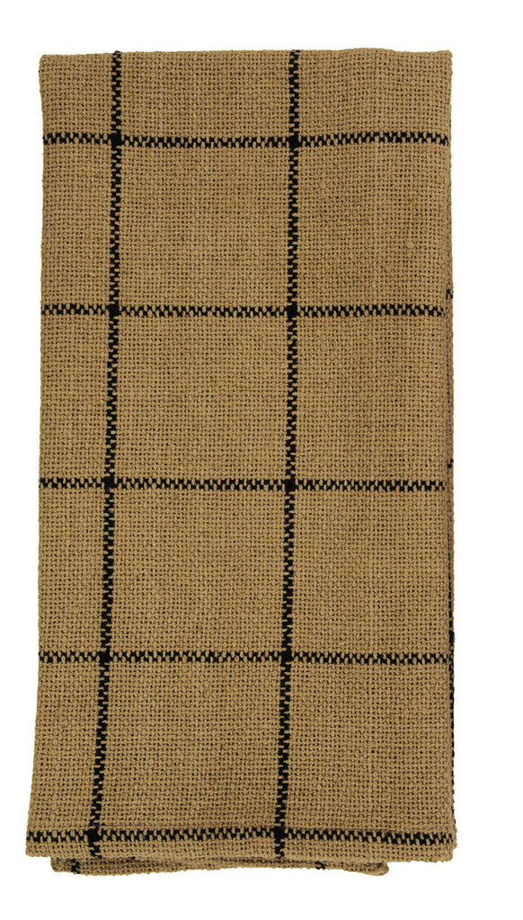 Soft Cotton Burlap Check Dishtowel