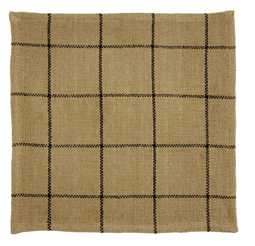 Burlap Check Tablemat