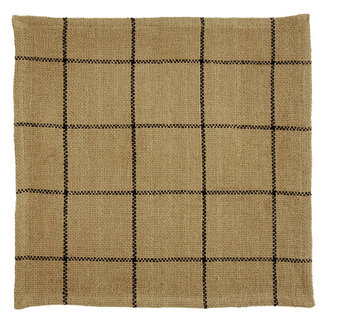 Soft Cotton Burlap Tan Check Tablemat