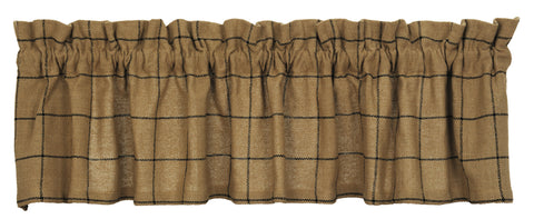 Burlap Check Tan Window Treatments