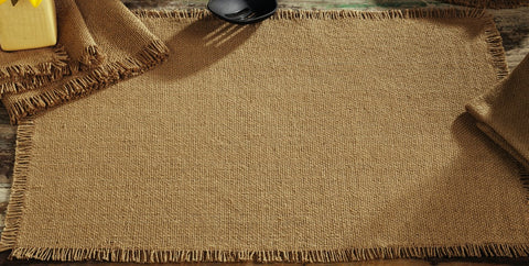 Soft Cotton Burlap Tan Placemat