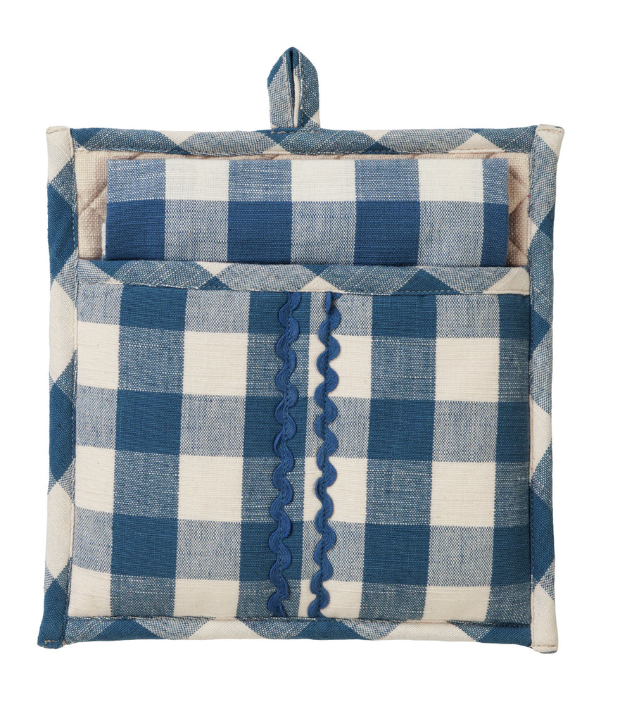 Picnic Blue Potholder Gift Set - Set of 2