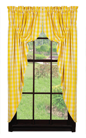 Picnic Yellow Prairie Curtain Set
