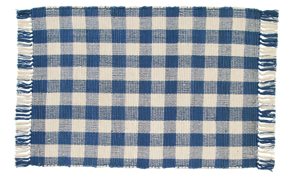 Picnic Blue Rectangle Rug