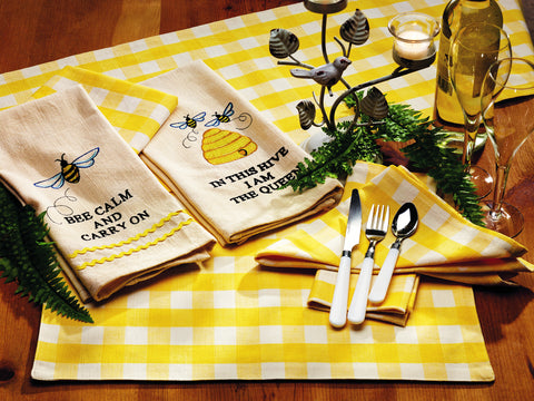 Picnic Yellow Short Table Runner