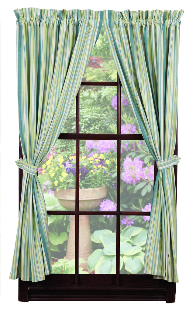 Mint Short Panel Window Curtains Pair - 72x63 total - 2 inch rod pocket