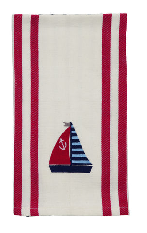 Anchor Sail Boat Dishtowel