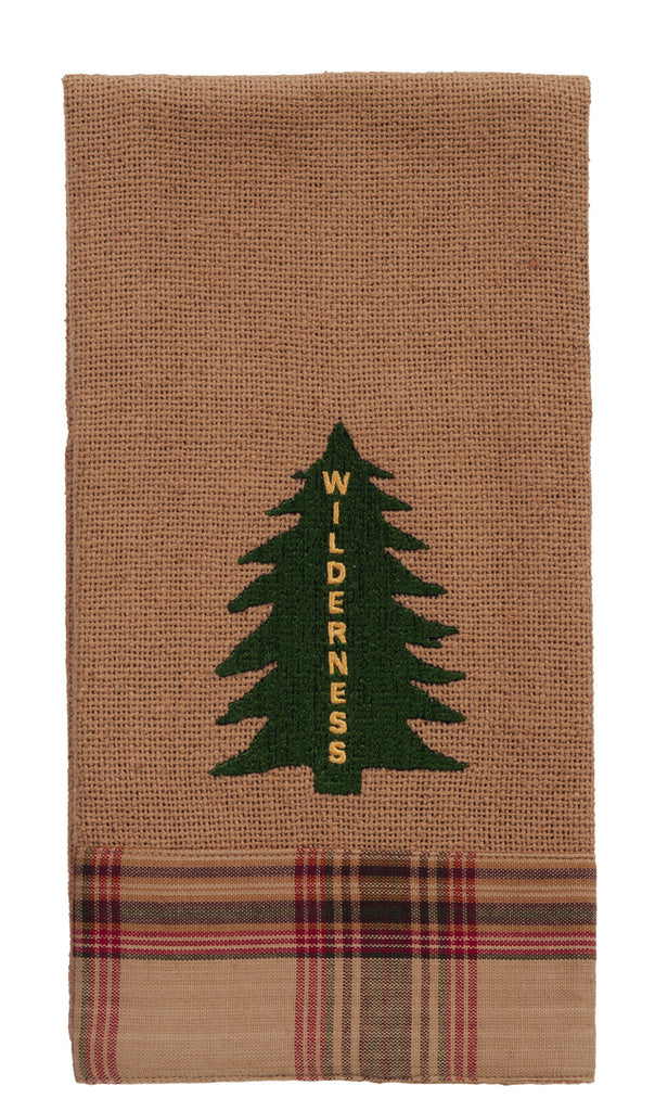 "Pinecone ""Wilderness"" Tree Dishtowel - Country Farmhouse Kitchen Dish Towels"