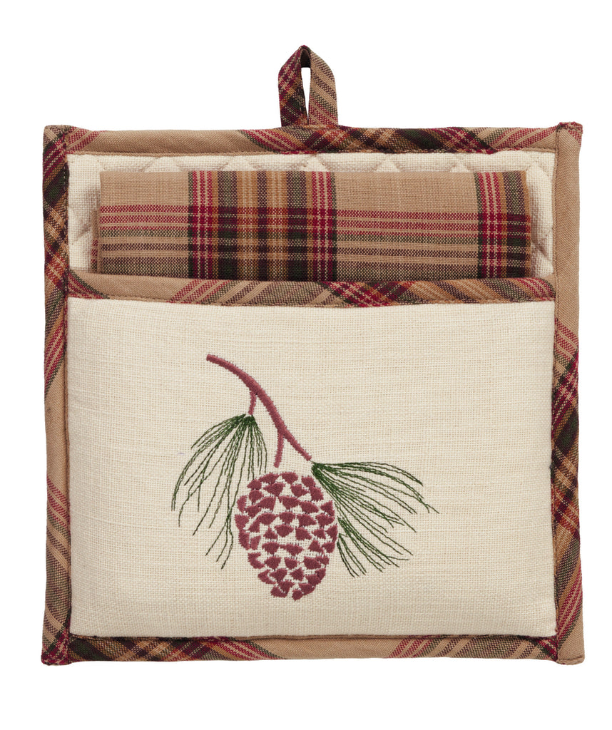 Pinecone Potholder Gift Set - Set of 2