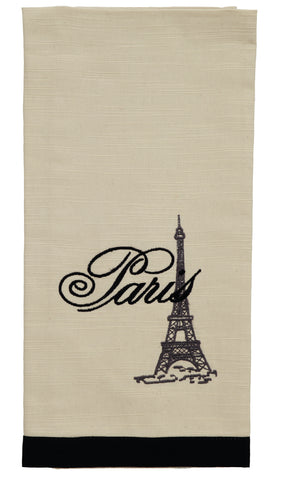 French Postcard Eiffel Tower Dishtowel