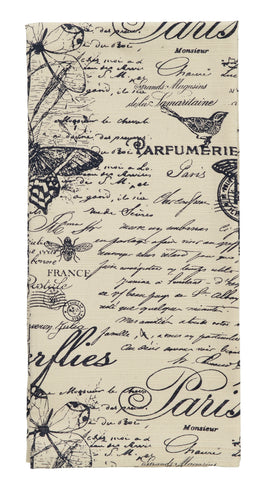 French Postcard Dishtowel