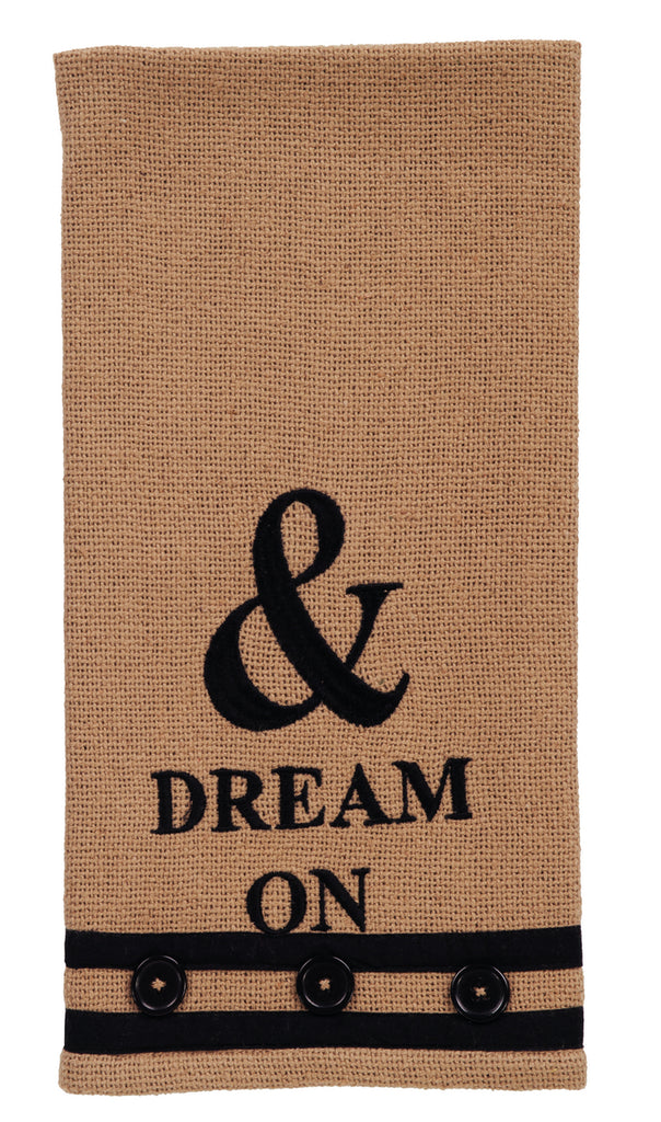 "Au Natural ""Dream On"" Dishtowel - Country Farmhouse Kitchen Funny Dish Towel"