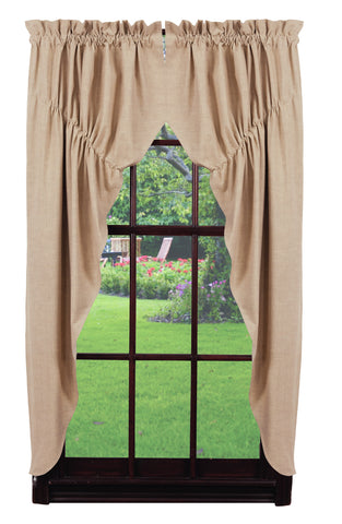 Au Natural Solid Prairie Curtain Set