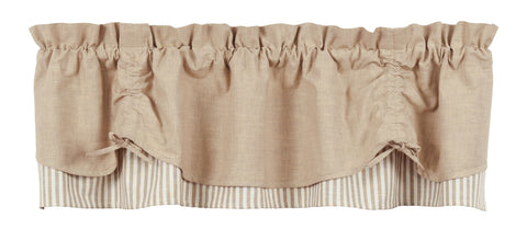 Au Natural Scalloped Valance