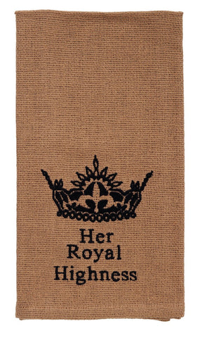 "Au Natural ""Her Royal Highness"" Dishtowel"
