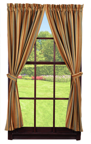 Cordwood Short Panel Window Curtains Pair - 72x63 total - 2 inch rod pocket