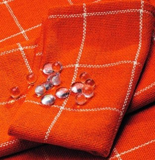 Soft Cotton Burlap Check Tangerine - Orange Napkin
