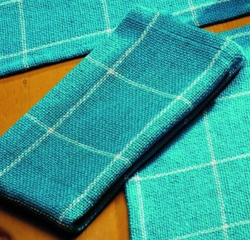 Soft Cotton Burlap Check Turquoise - Aqua Blue Green  Napkin