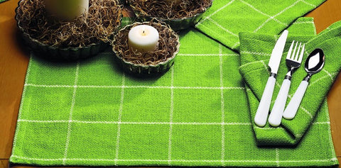 Burlap Check Lime Placemat