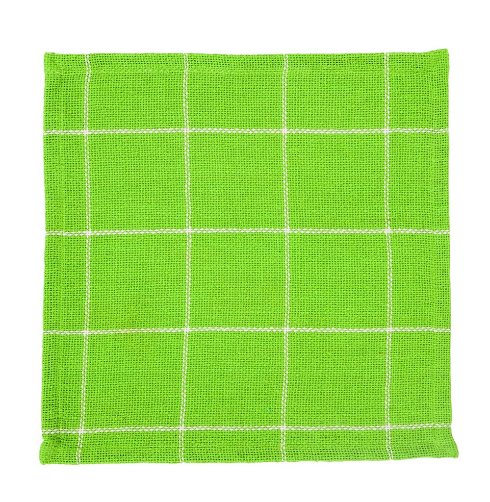 Burlap Check Lime Tablemat
