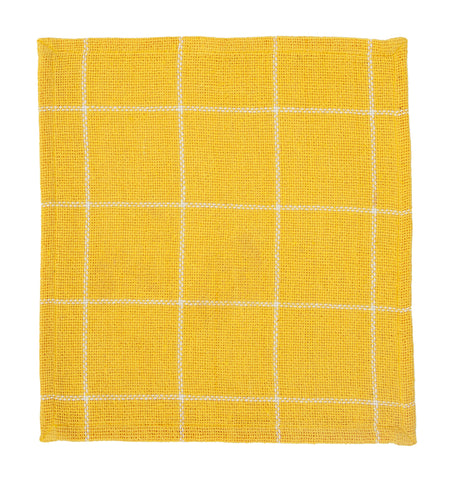 Soft Cotton Burlap Check Yellow Tablemat