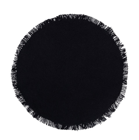 Soft Cotton Burlap Black Tablemat