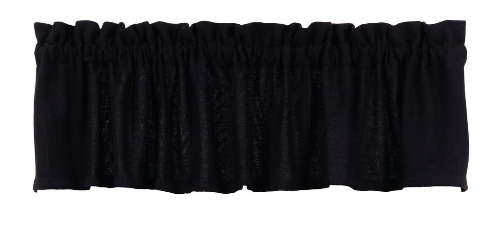 Soft Cotton Burlap Black Valance