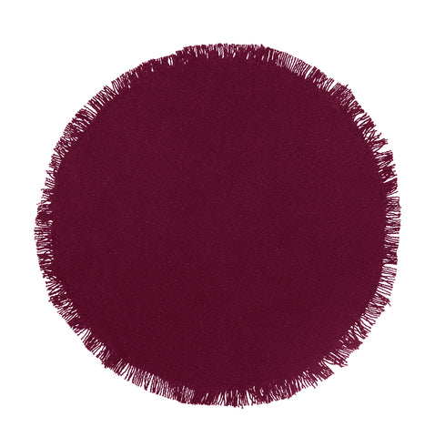Soft Cotton Burlap Wine - Burgundy Tablemat
