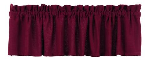 Soft Cotton Burlap Wine - Burgundy Valance
