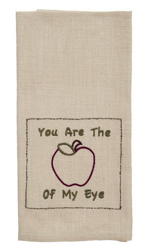 "Apple Valley ""Apple Of My Eye"" Dishtowel - Country Farmhouse Kitchen Funny Dish Towels"