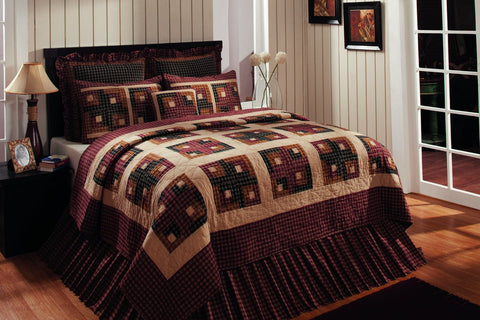 Cambridge Log Cabin Quilted Pillow