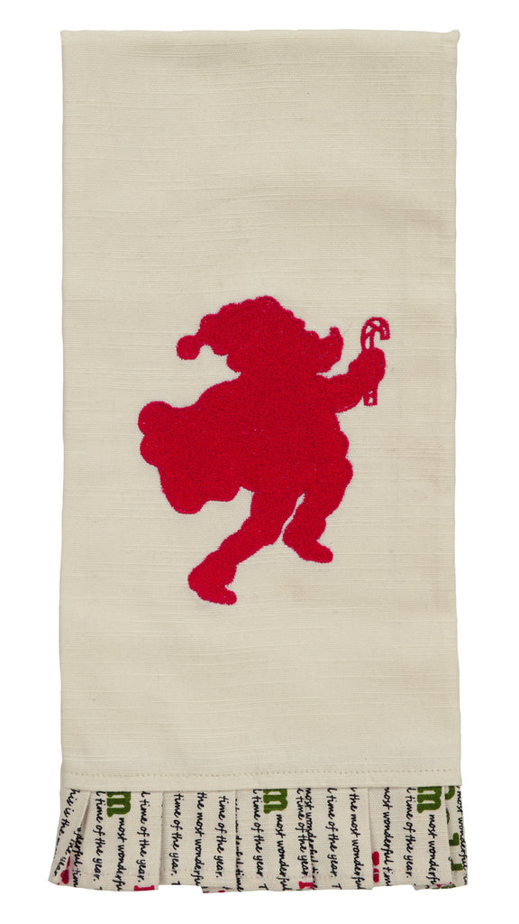 Christmas Wishes Santa Dishtowel