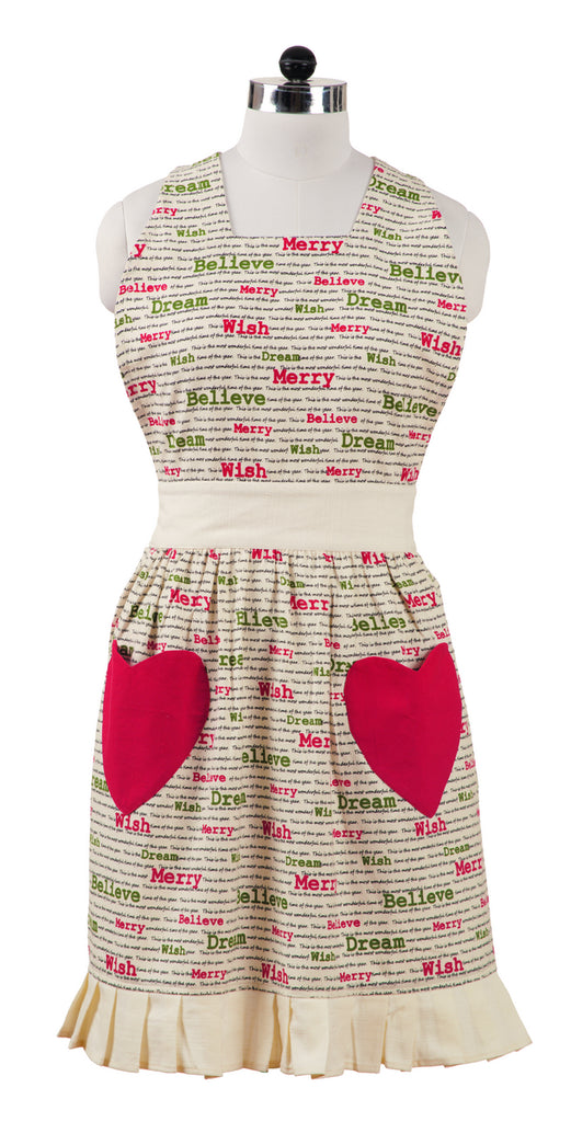 Christmas Wishes Decorative Apron