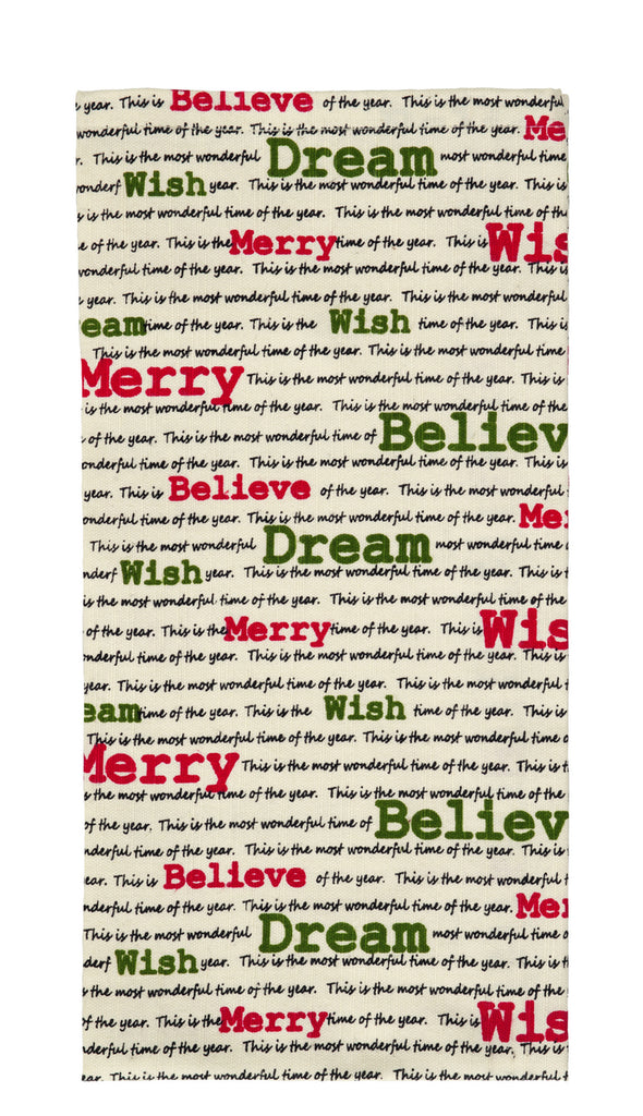 Christmas Wishes Dishtowel